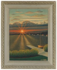 Sunset and Pier, 1960-1965