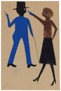 Woman Pointing at Man with Cane, 1939-1942