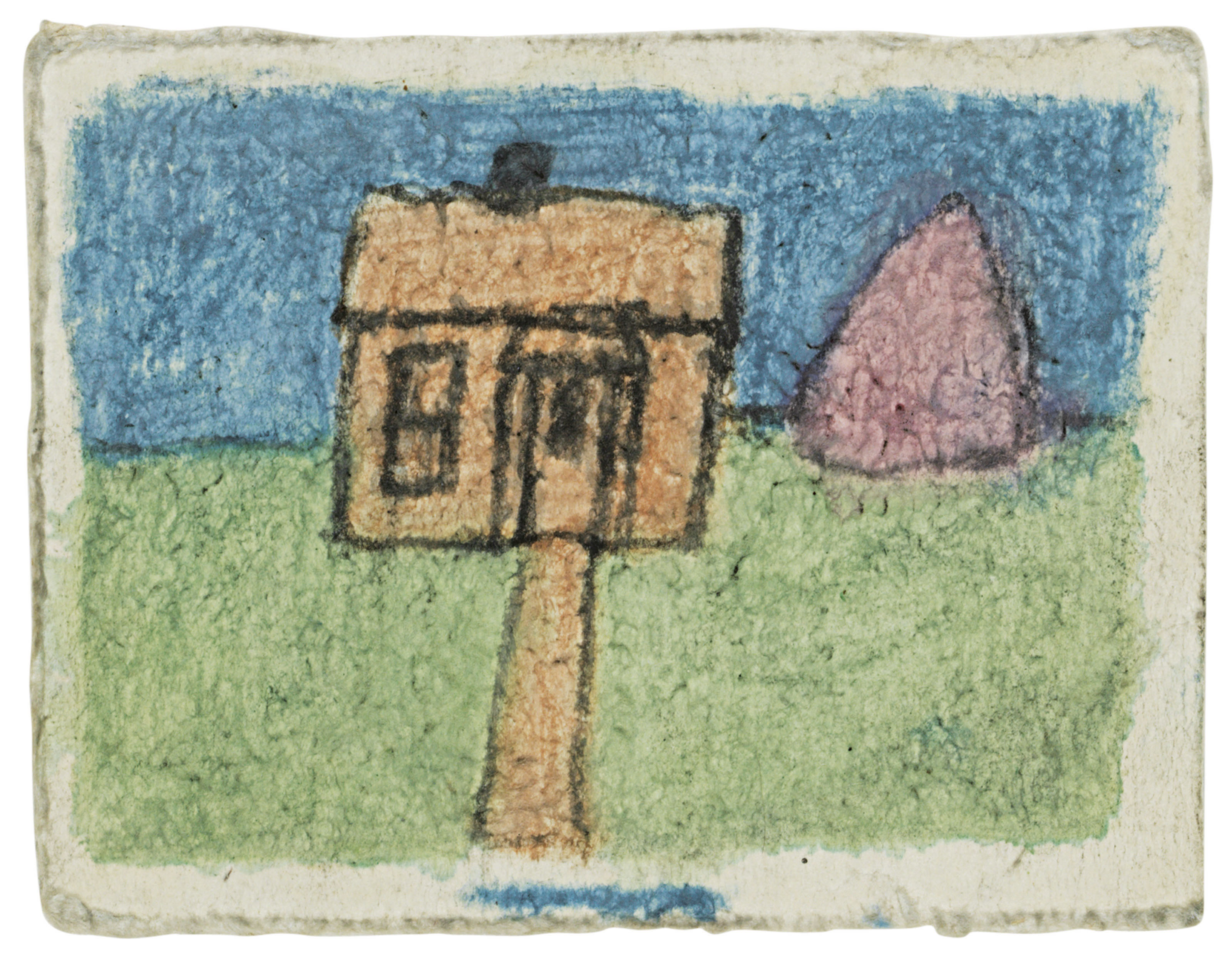 Untitled (Dream House with Tree in Colored Pulp)