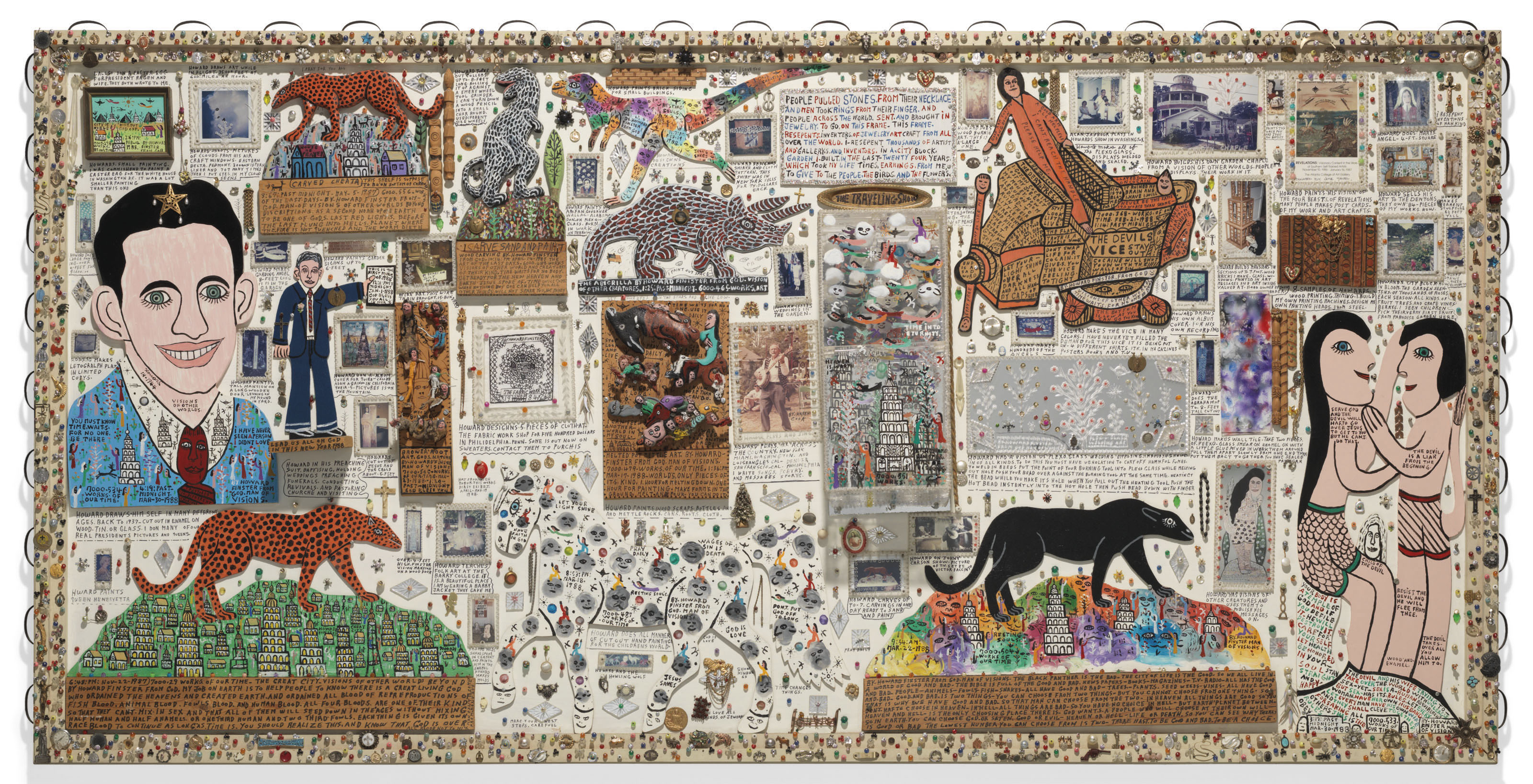Traveling Show: Presentation Piece Detailing the Life of Howard Finster, 1988