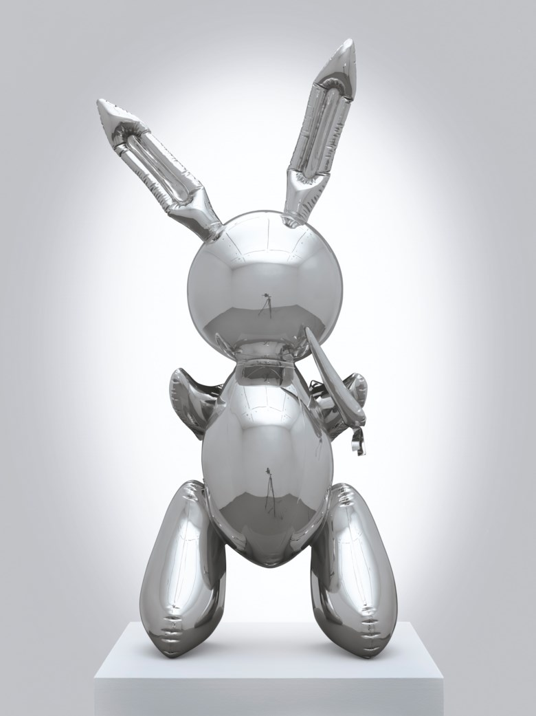 Jeff Koons (b. 1955), Rabbit, 1986. This work is number two from an edition of three plus one artists proof and is accompanied by a certificate of authenticity signed by the artist. Stainless steel. 41 x 19 x 12  in (104.1 x 48.3 x 30.5  cm). Sold for $91,075,000 in the Post-War and Contemporary Art Evening Sale on 15 May 2019 at Christie's in New York © Jeff Koons