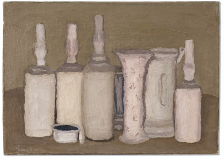 Giorgio Morandi (1890-1964), Natura Morta, 1941. Oil on canvas. 13¾ x 19¼  in (34.8 x 49.1  cm). Sold for $2,415,000 in thePost-War and Contemporary Art Evening Sale on 15 May 2019 at Christie's in New York© 2019 Artists Rights Society (ARS), New YorkSIAE, Rome