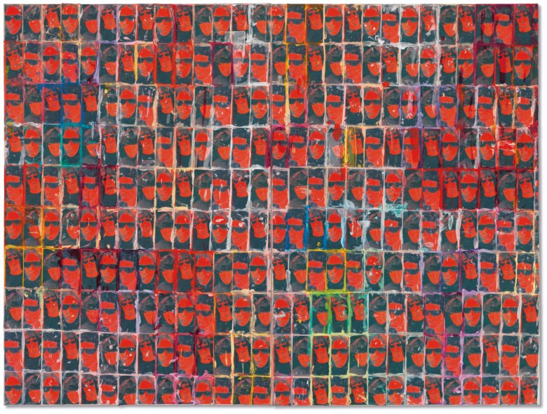Richard Prince (b. 1949), Untitled (The Velvets), 2007. Diptych — printed paper collage and acrylic on canvas. Overall 60 x 80  in (152.4 x 203.3  cm). Sold for $1,155,000 in thePost-War and Contemporary Art Evening Sale on 15 May 2019 at Christie's in New York© Richard Prince
