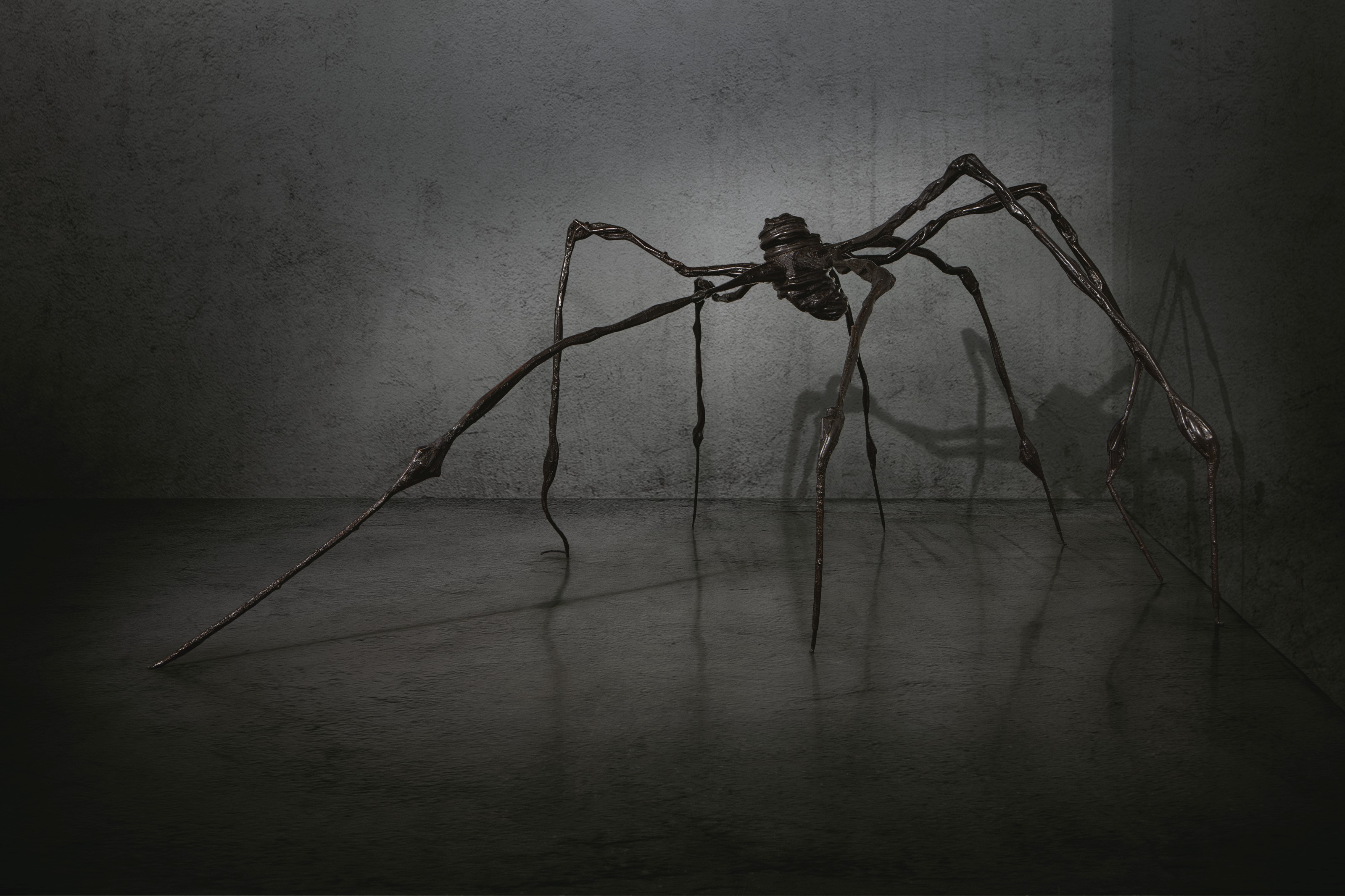 Louise Bourgeois (1911-2010), Spider. Bronze. 128½ x 298 x 278  in (326.3 x 756.9 x 706.1  cm). Conceived in 1996 and cast in 1997. Sold for $32,055,000 on 15 May 2019 at Christie's in New York. Artwork © The Easton FoundationVAGA at ARS, NY and DACS, London 2021