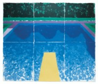 Day Pool with Three Blues (Paper Pool 7)