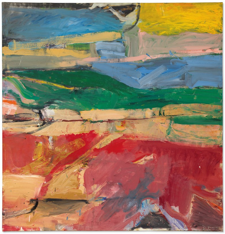 Richard Diebenkorn (1922-1993), Berkeley #32, 1955. Oil on canvas. 59 x 57  in (149.9 x 144.8  cm). Estimate $6,000,000-8,000,000. Offered in Post-War and Contemporary Art Evening Sale on 15 May 2019 at Christie's in New York