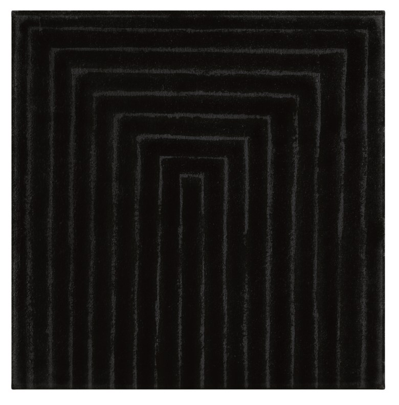 Frank Stella (b. 1936), Untitled (Study for Gettys Tomb), circa 1959. Enamel on canvas mounted on Masonite. 11¾ x 11¾ (29.8 x 29.8  cm). Estimate $1,000,000-1,500,000. Offered in Post-War and Contemporary Art Morning Session on 16 May 2019 at Christie's in New York