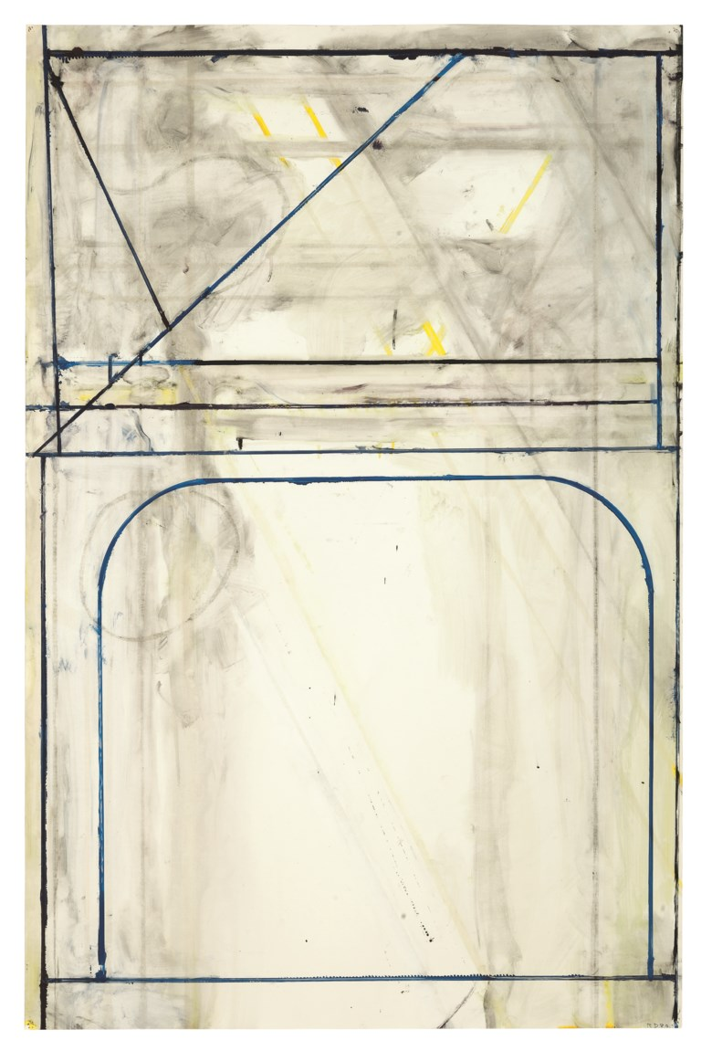 Richard Diebenkorn (1922-1993), Untitled, 1980. Gouache on paper. 38 x 25  in (96.5 x 63.5  cm). Estimate $250,000-350,000. Offered in Post-War and Contemporary Art Morning Session on 16 May 2019 at Christie's in New York