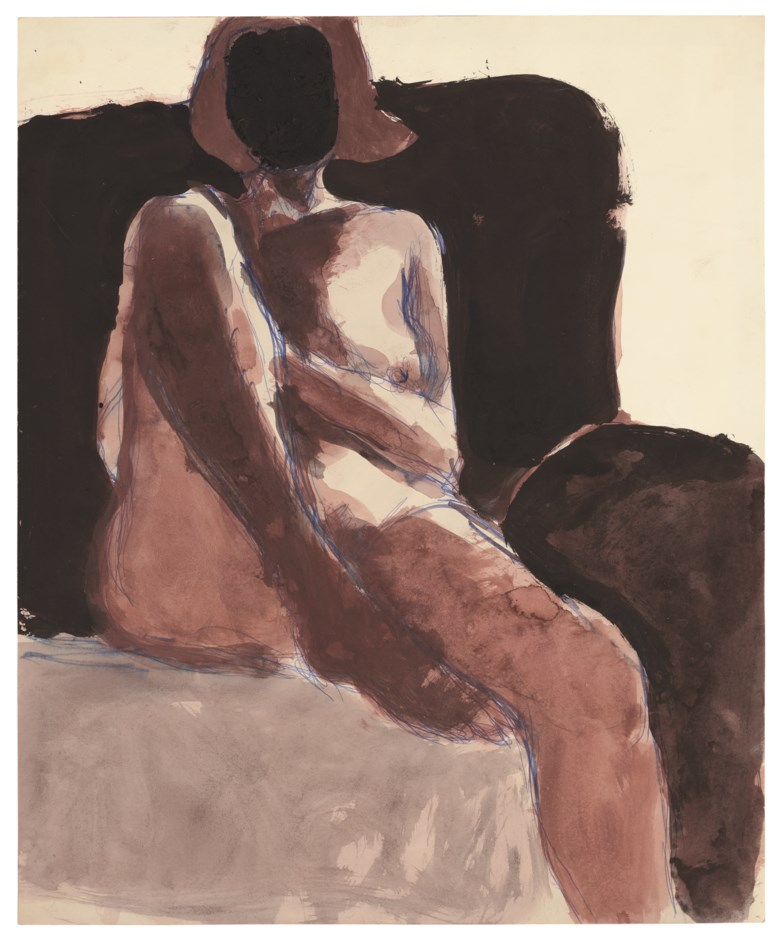 Richard Diebenkorn (1922-1993), Untitled, 1968. Watercolour, gouache and ballpoint pen on paper. 17 x 14  in (43.2 x 35.6  cm). Estimate $70,000-100,000. Offered in Post-War and Contemporary Art Morning Session on 16 May 2019 at Christie's in New York