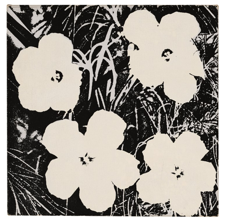 Andy Warhol (1928-1987), Flowers, painted in 1964. Acrylic and silkscreen ink on canvas. 14 x 14  in (35.6 x 35.6  cm). Estimate $600,000-800,000. Offered in the Post-War and Contemporary Art Morning Session on 16 May 2019 at Christie's in New York © 2019 The Andy Warhol Foundation for the Visual Arts, Inc.  Licensed by Artists Rights Society (ARS), New York