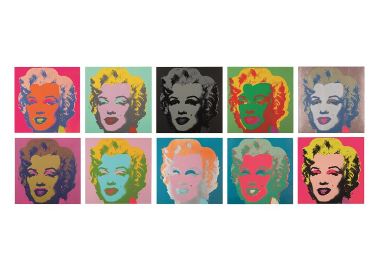 Andy Warhol (1928-1987), Marilyn Monroe (Marilyn), executed in 1967. This work is number 166 from an edition of 250. Screenprint in colours on paper, in ten parts. Each 36 x 36  in (91.4 x 91.4  cm). Estimate $2,000,000-3,000,000. Offered in the Post-War and Contemporary Art Morning Session on 16 May 2019 at Christie's in New York © 2019 The Andy Warhol Foundation for the