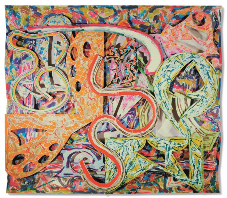 Frank Stella (b. 1936), Talladega II, 1982. Acrylic and enamel on aluminium construction. 108 x 125 x 7  in (274.3 x 317.5 x 17.8  cm). Estimate $400,000-600,000. Offered in Post-War and Contemporary Art Morning Session on 16 May 2019 at Christie's in New York