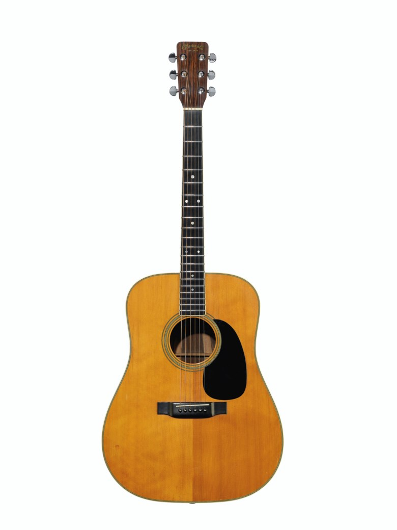 C.F. Martin & Company, Nazareth, 1969. An acoustic guitar, D-35. Estimate $10,000-20,000. Offered in The David Gilmour Guitar Collection on 20 June 2019 at Christie's in New York