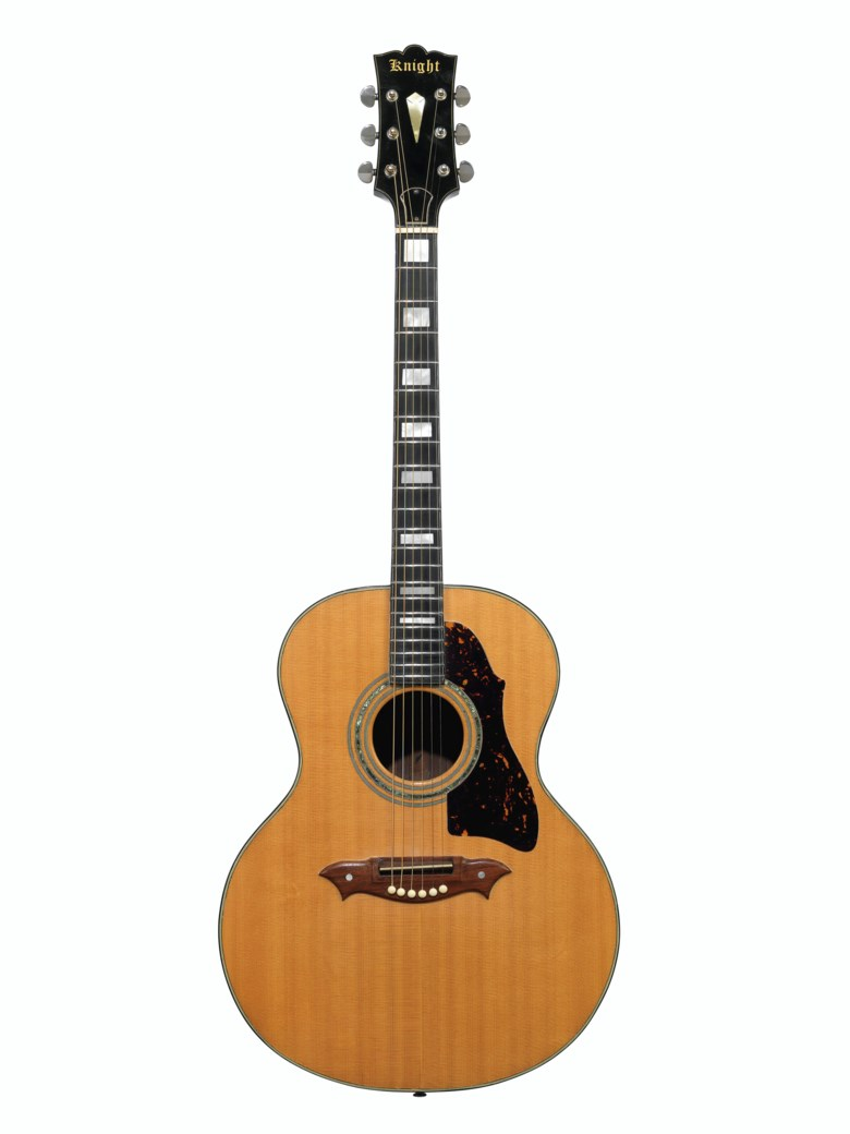 Dick Knight, Surrey, 1969. An acoustic guitar. Estimate $2,000-3,000. Offered in The David Gilmour Guitar Collection on 20 June 2019 at Christie's in New York