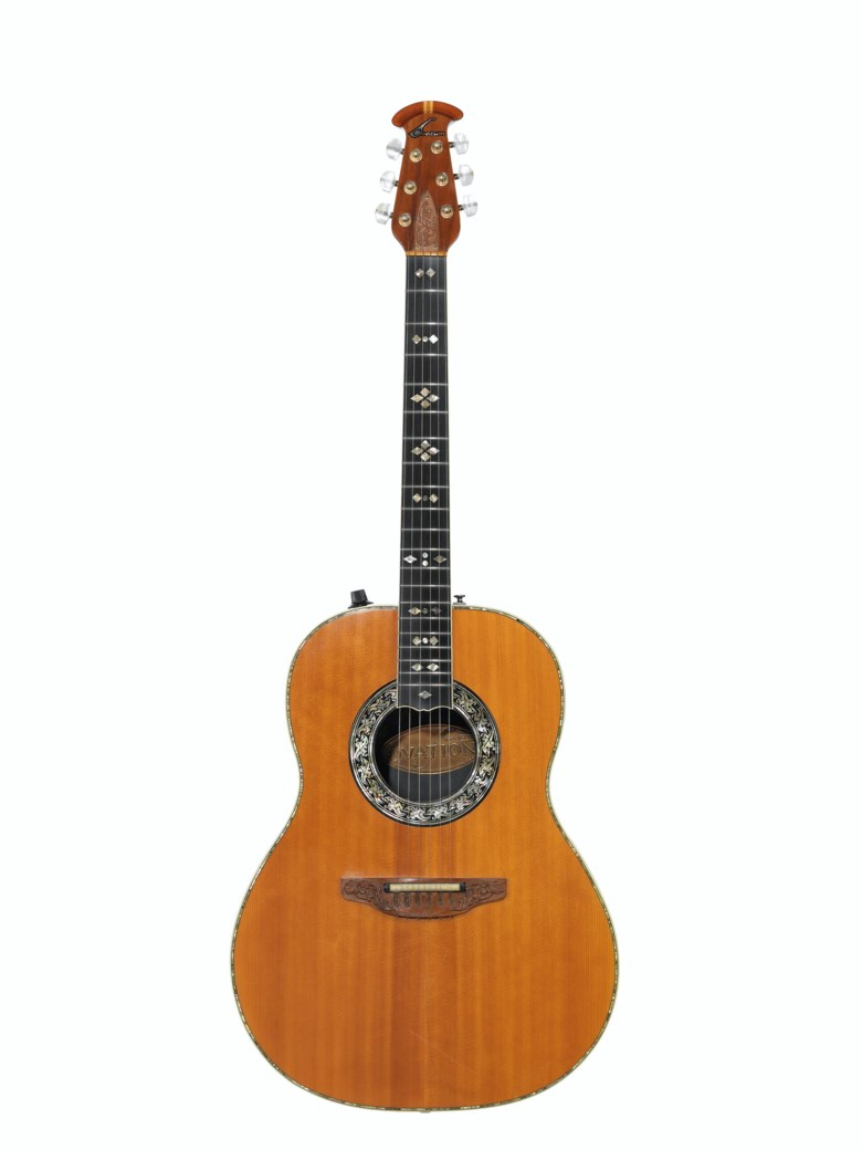Ovation Instruments, New Hartford, 1976. An acoustic-electric guitar, custom legend, 1619-4. Estimate $3,000-5,000. Offered in The David Gilmour Guitar Collection on 20 June 2019 at Christie's in New York