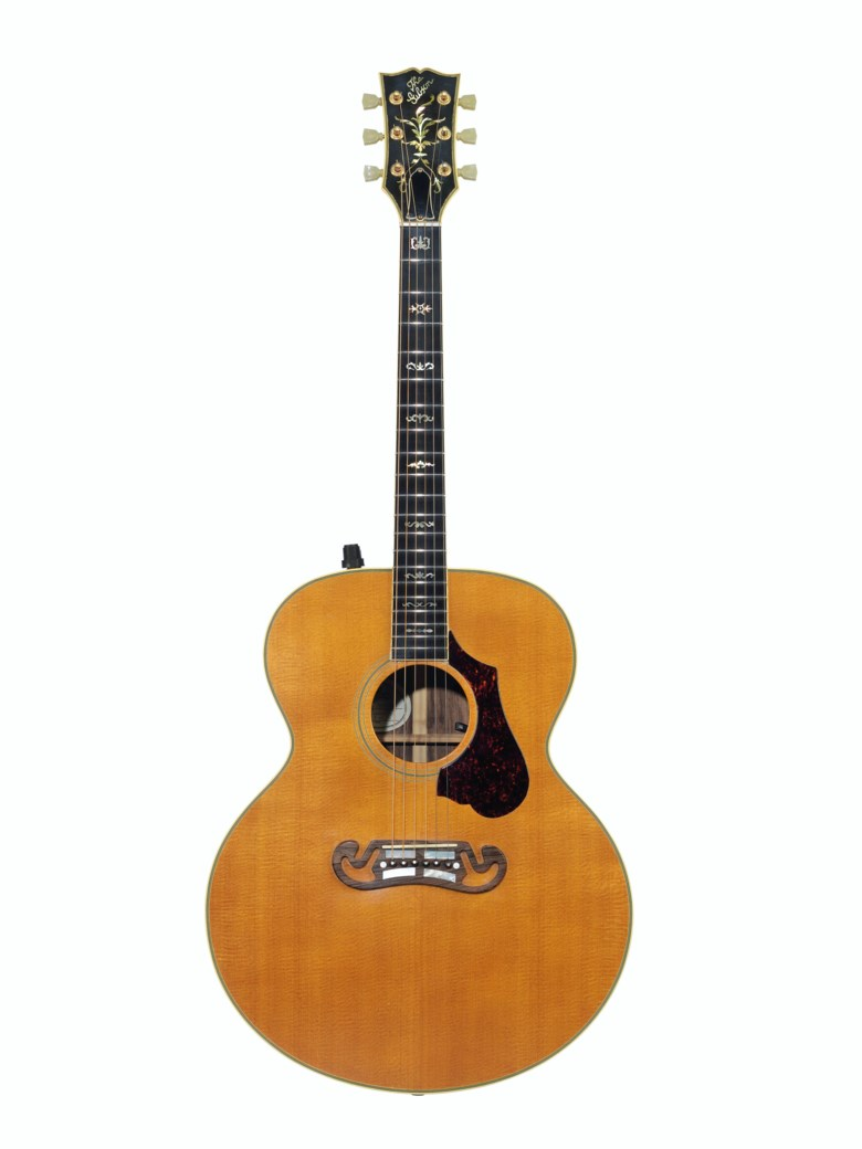 Gibson Incorporated, Nashville, 1986. An acoustic guitar, J-200 Celebrity. Estimate $3,500-5,500. Offered in The David Gilmour Guitar Collection on 20 June 2019 at Christie's in New York
