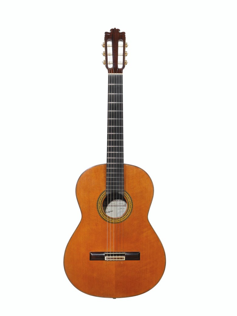 Jose Ma. Vilaplana, Muro del Alcoy, 1979, an acoustic guitar. Length of back 19⅝  in (49.7  cm). Estimate $2,500-3,500. Offered in The David Gilmour Guitar Collection on 20 June 2019 at Christie's in New York