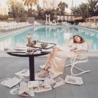 Faye Dunaway with Oscar, Beverly Hills, 1977