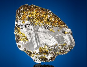 SPACE GEMS IN NATURAL IRON MATRIX FEATURED IN COMPLETE SLICE