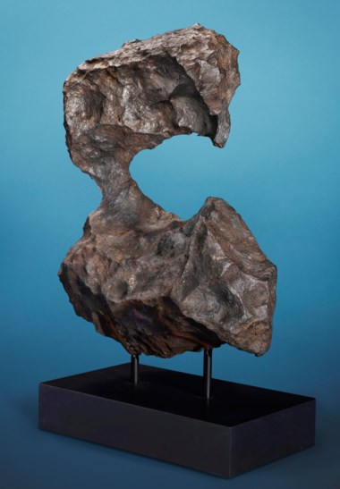 Gibeon meteorite — natural exotic sculpture from outer space, iron, fine octahedrite, Gibeon, Great Nama Land, Namibia. Estimate $250,000-350,000. Offered in  The Moon and Beyond Meteorites from the Stifler Collection, 11-19 July 2019, Online