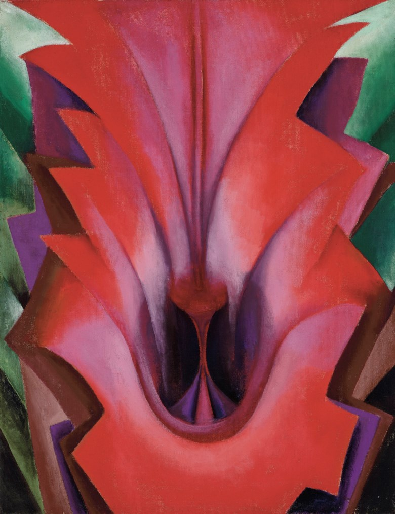 Georgia OKeeffe (1887-1986), Inside Red Canna, 1919. 22 x 17 in (55.9 x 43.2 cm). Estimate $4,000,000-6,000,000. Offered in American Art on 22 May 2019 at Christie's in New York. © 2019 Georgia O'Keeffe Museum  Artists Rights Society (ARS), New York