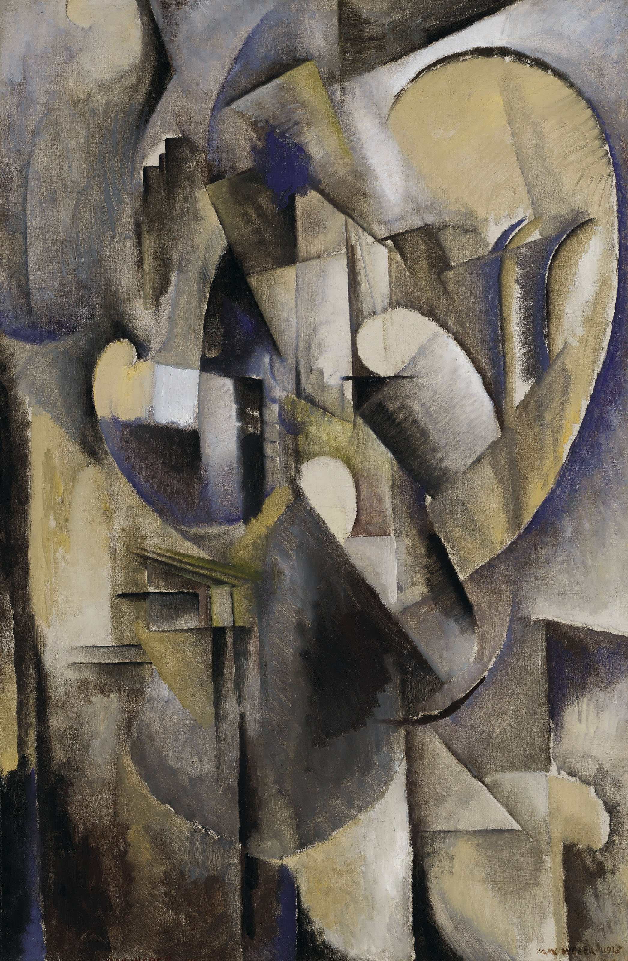 Max Weber (1881-1961) | Interior with Music | 1910s, Paintings