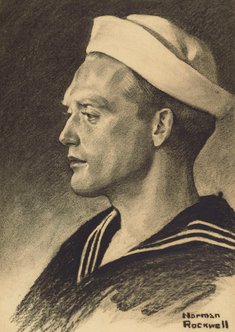 Norman Rockwell (1894-1978), Profile of a World War I Sailor, 1918. 14 x 10 in (35.6 x 25.4 cm). Estimate $15,000-25,000. Offered in American Art Online, 15-22 May 2019, Online