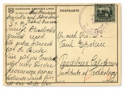 EINSTEIN, Albert (1879-1955) a