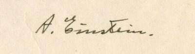 EINSTEIN, Albert (1879-1955).