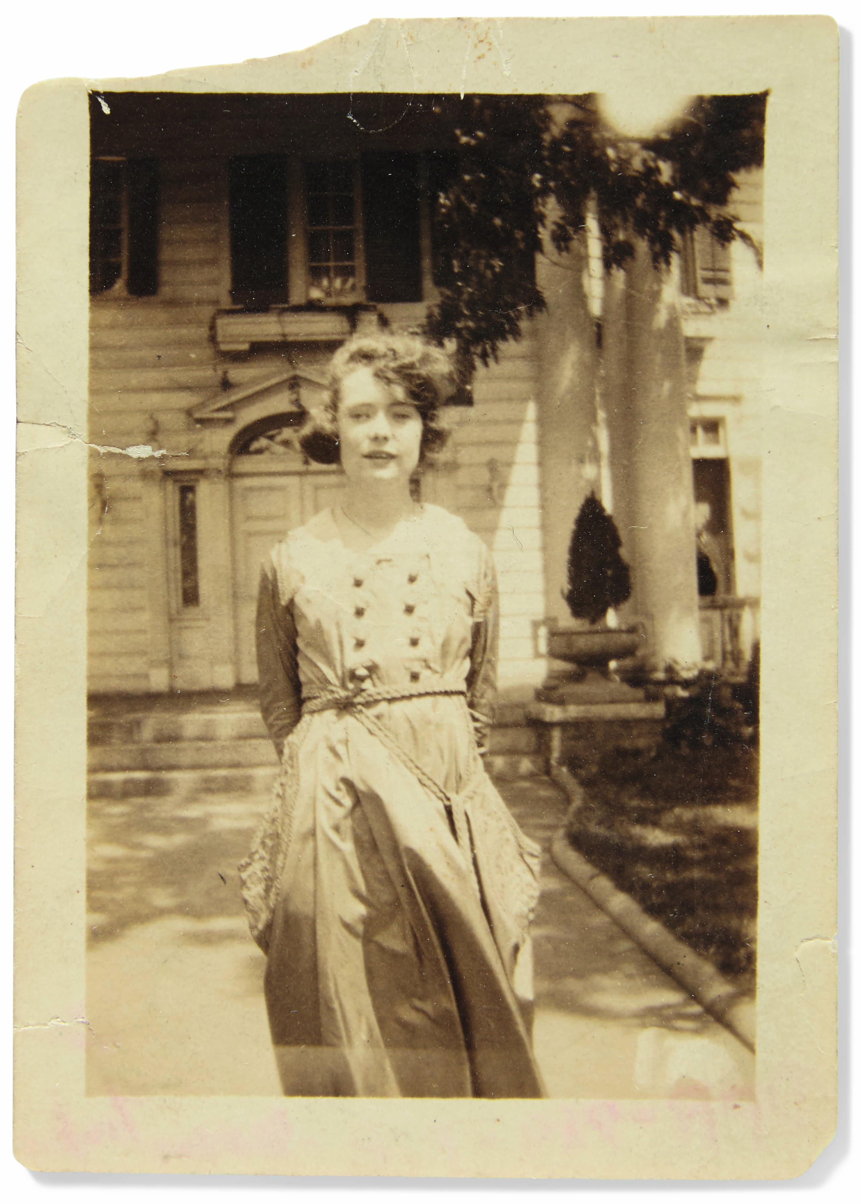 """MITCHELL, Margaret (1900-1949). A correspondence of 9 typed and 1 autograph letters signed (""""Peggy,"""" with one unsigned) to Virginia Morris Nixon, Atlanta, 1919 and 1936-38; with three black & white photographs of Mitchell, Smith College, c.1918-20."""