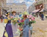 Marchand de fleurs, la rue du Havre, Paris
