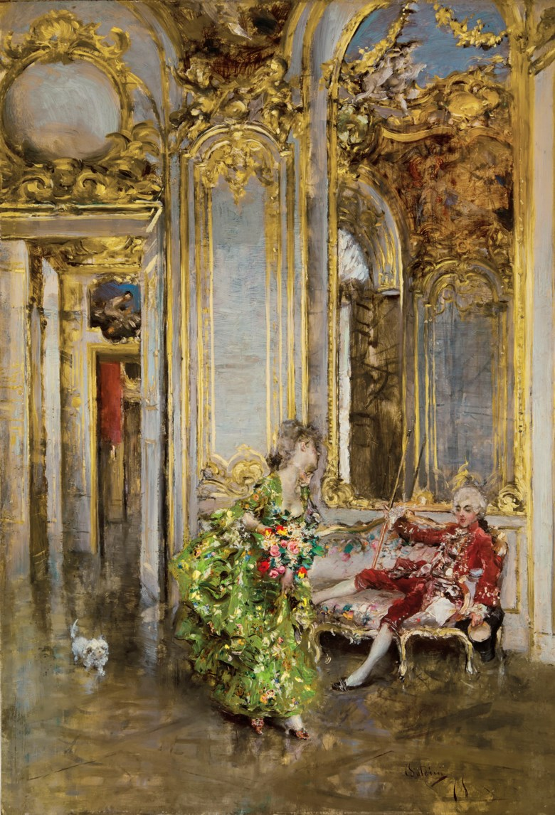 Giovanni Boldini (1842-1931), L'amica del marchese. 12¾ in x 8½  in (31.3 x 21.6  cm). Estimate $300,000-500,000. Offered in European Art on 30 April 2019 at Christie's in New York