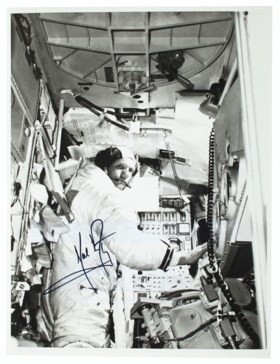 "ARMSTRONG, Neil (1930-2012). Photograph signed (""Neil Armstr"