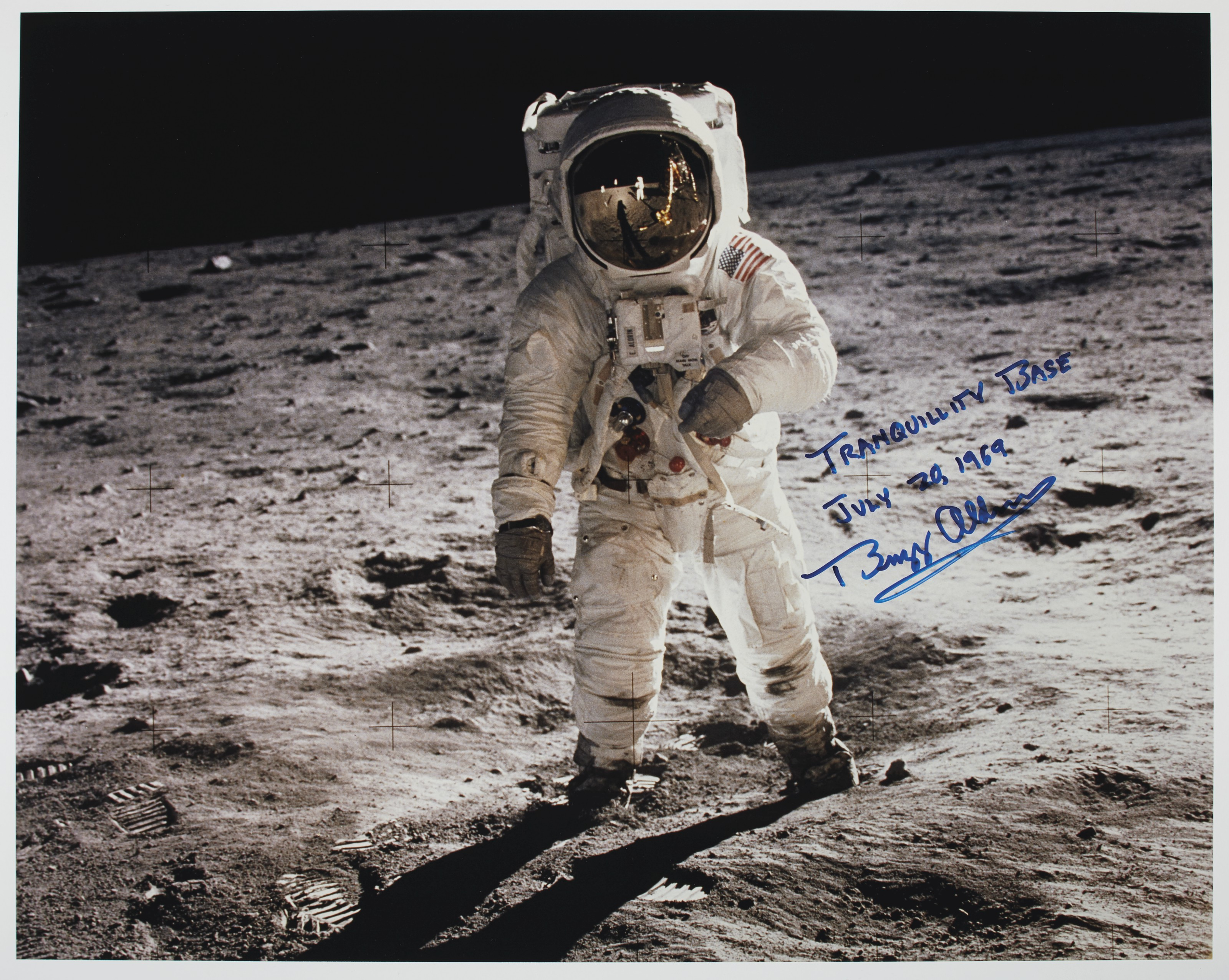 TRANQUILITY BASE – Photograph signed and inscribed (''Tranquillity Base...