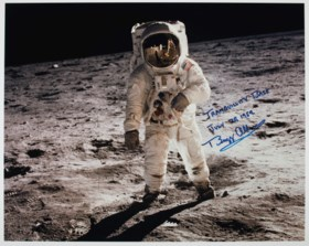 TRANQUILITY BASE – Photograph signed and inscribed (