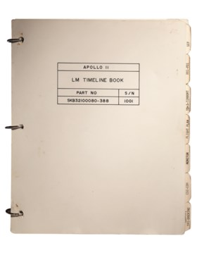 THE TIMELINE BOOK – Apollo 11 LM Timeline Book. [Houst