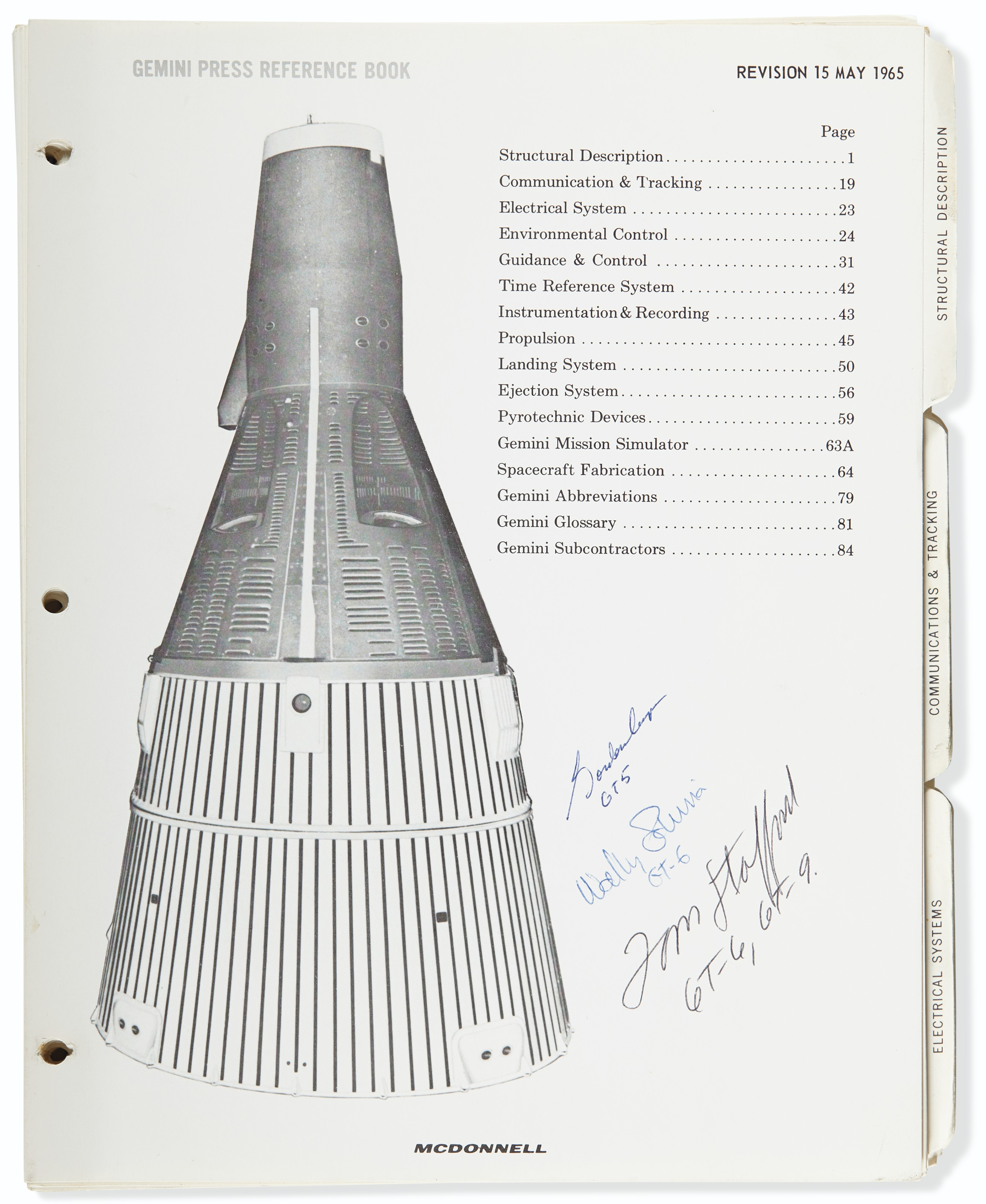 GEMINI-TITAN 4 MISSION – Gemini Spacecraft Number Four . McDonnell Aircraft...