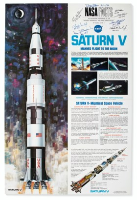 SATURN FIVE – Saturn V, Manned Flight to the Moon. NASA Fact