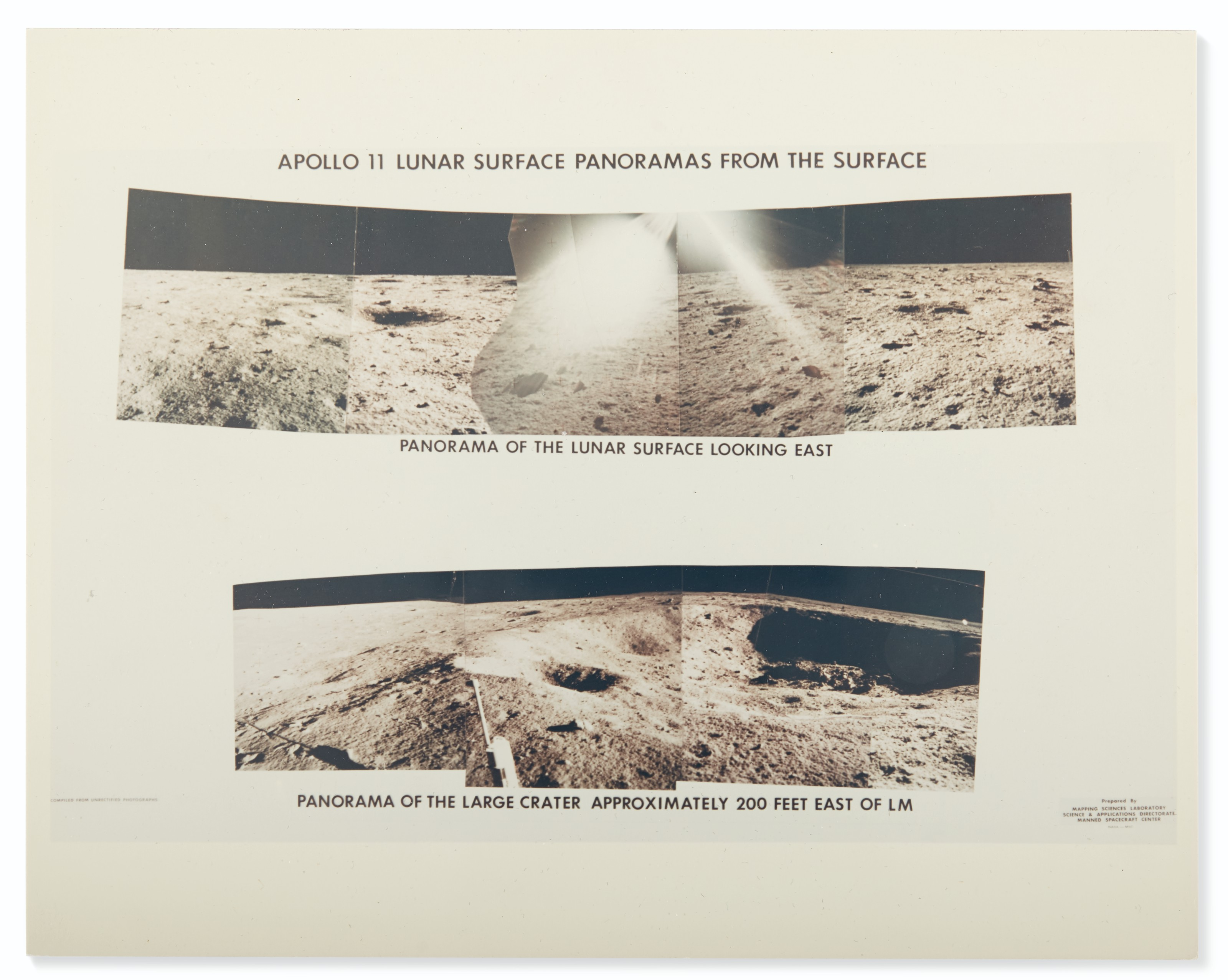 LUNAR SURFACE – Collection of vintage NASA panoramas, 1969.