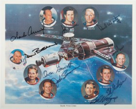 SKYLAB ASTRONAUTS – Photolithograph signed.