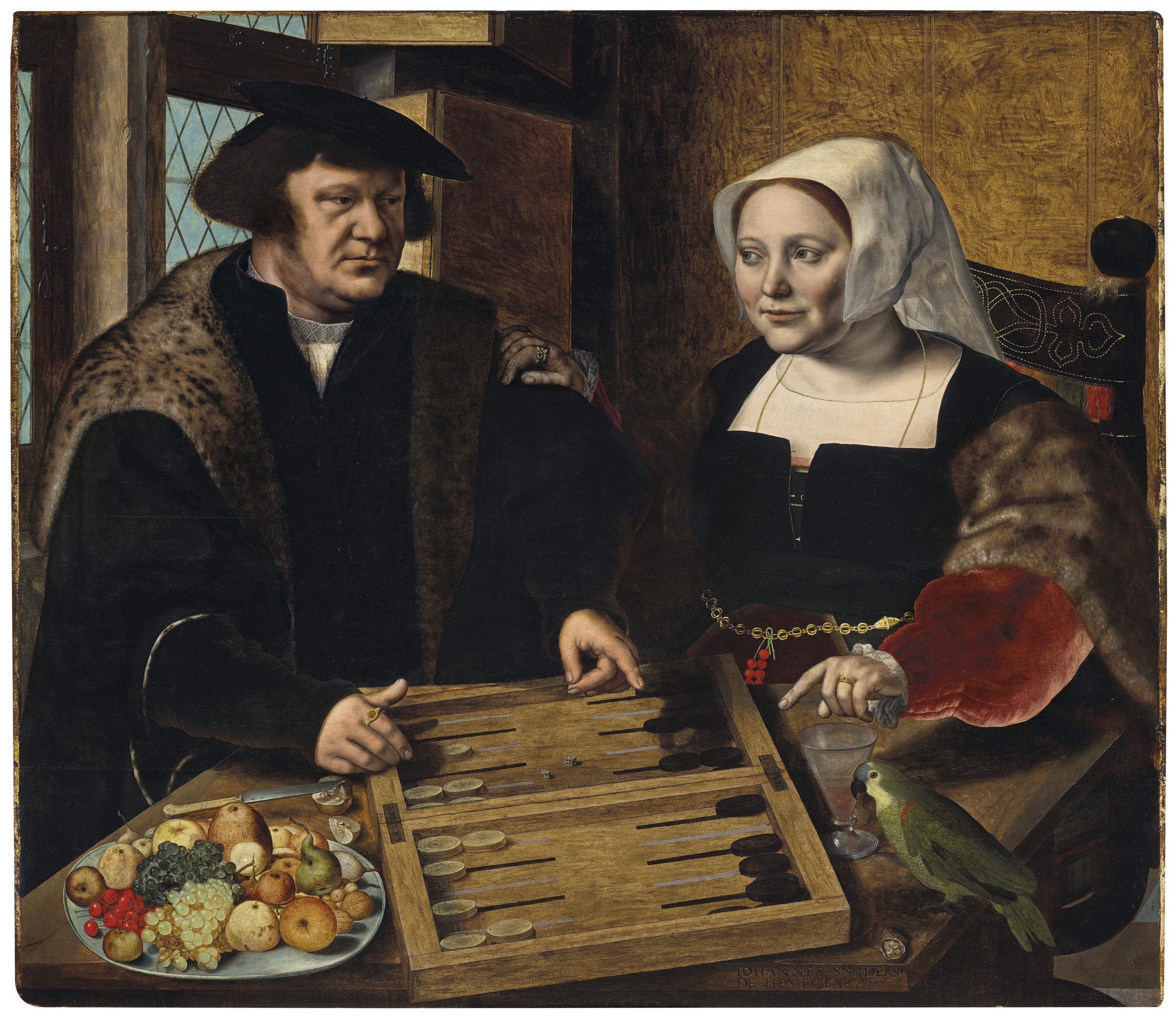 Jan Sanders van Hemessen (Hemessen c. 1504-1556 Antwerp) | Double ...