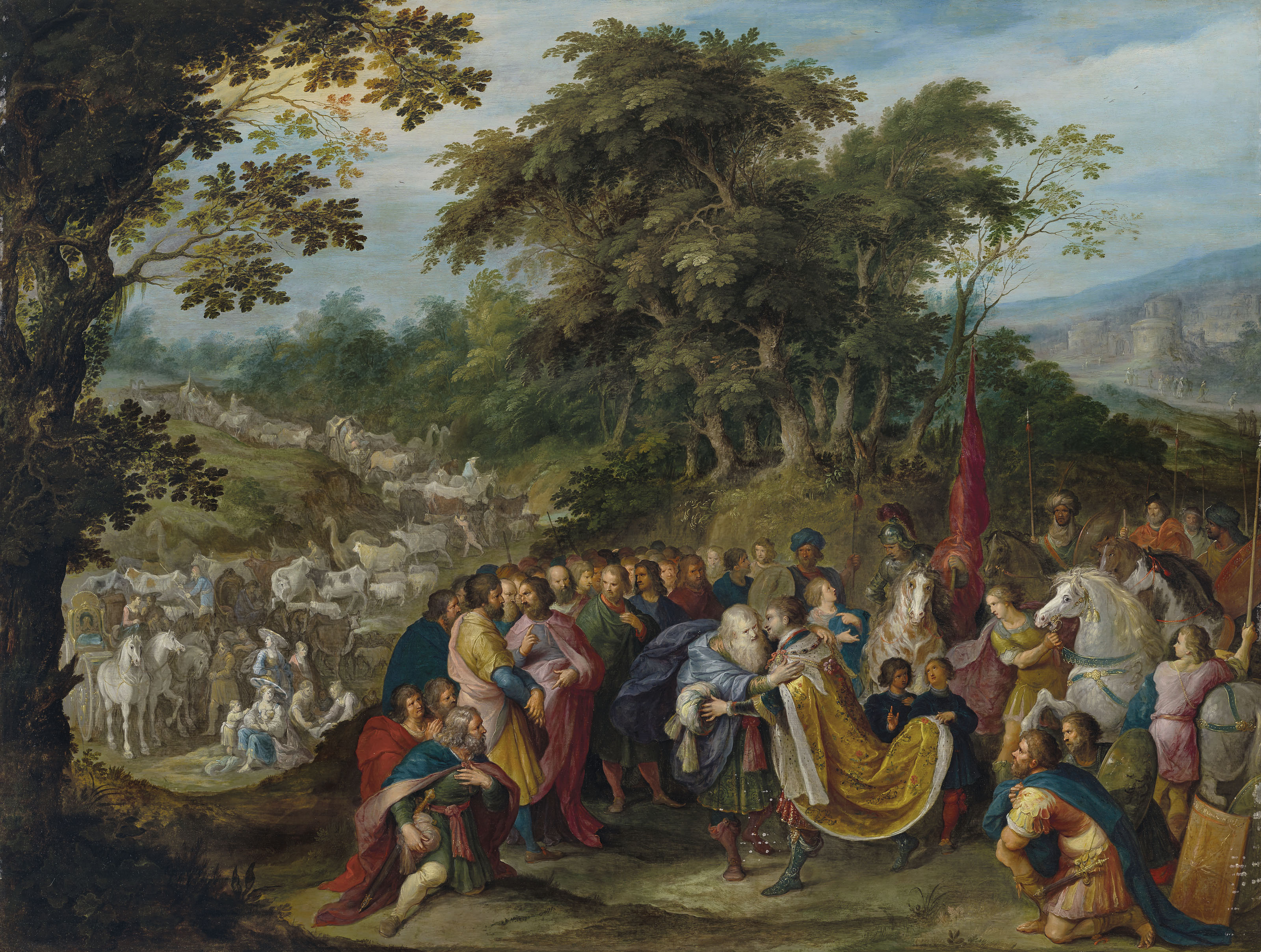 Frans Francken II (Antwerp 1581-1642), Abraham Govaerts (Antwerp 1589-1626) and Hans Jordaens III (Antwerp c. 1595-1643)