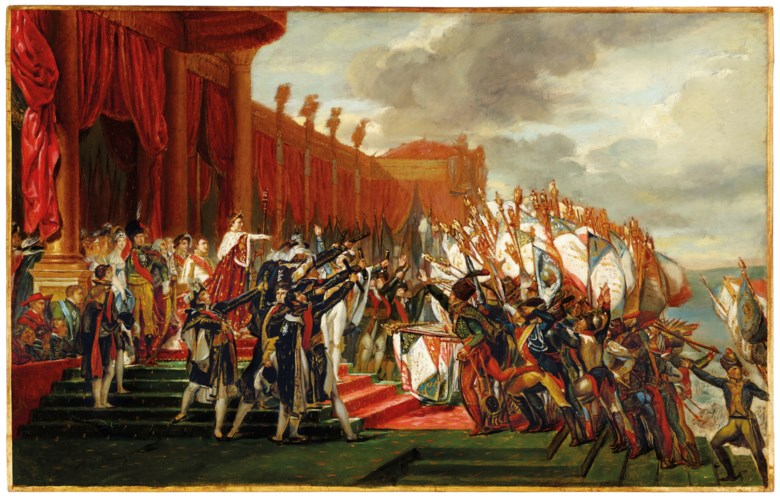 Jacques-Louis David (1748-1825), The Distribution of the Eagle Standards. 21¼ x 33½  in (54 x 85.2  cm). Sold for $2,535,000on 1 May 2019 at Christie's in New York