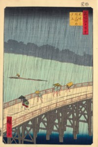 Ohashi Atake no yudachi (Ohashi bridge, sudden shower at Atake)