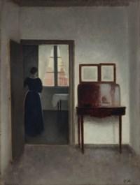 Interior with a Woman (Stue med en kvinde)