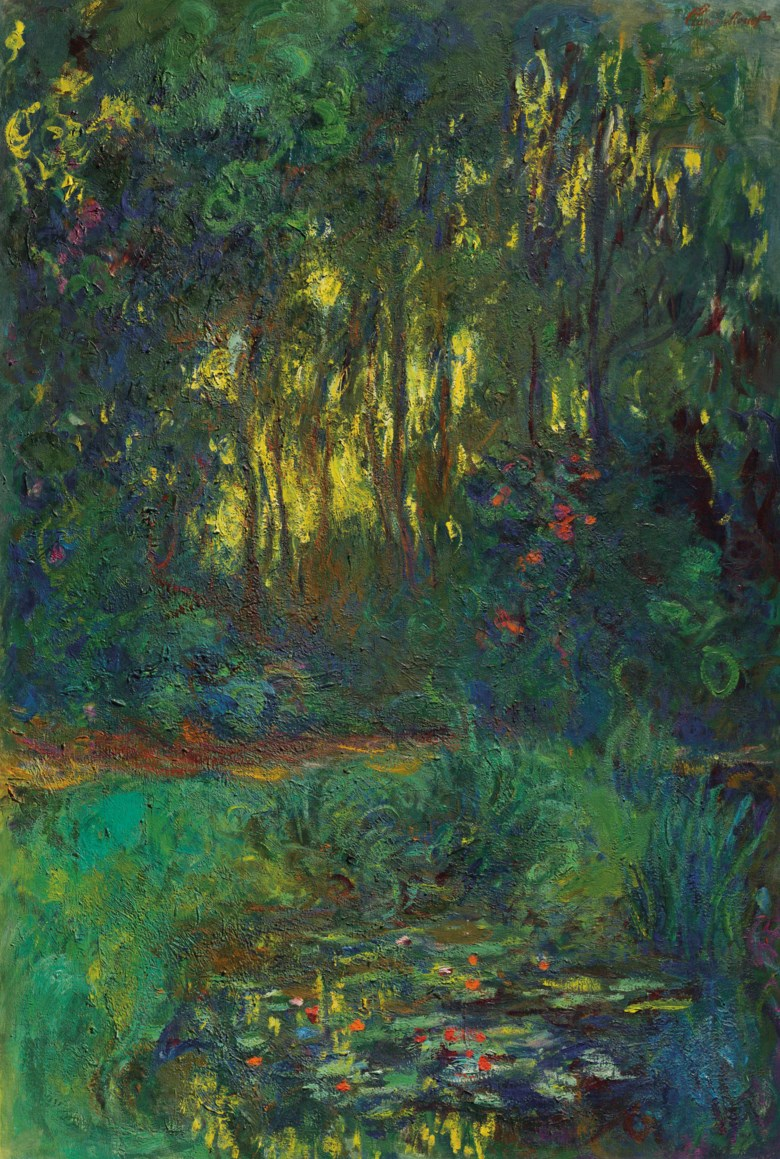 Claude Monet (1840-1926), Coin du bassin aux nymphéas, painted in Giverny, circa 1918-1919. 51⅜ x 35  in (130.5 x 88.8  cm). Estimate $15,000,000-25,000,000. Offered in Impressionist and Modern Art Evening Sale on 13 May 2019 at Christie's in New York