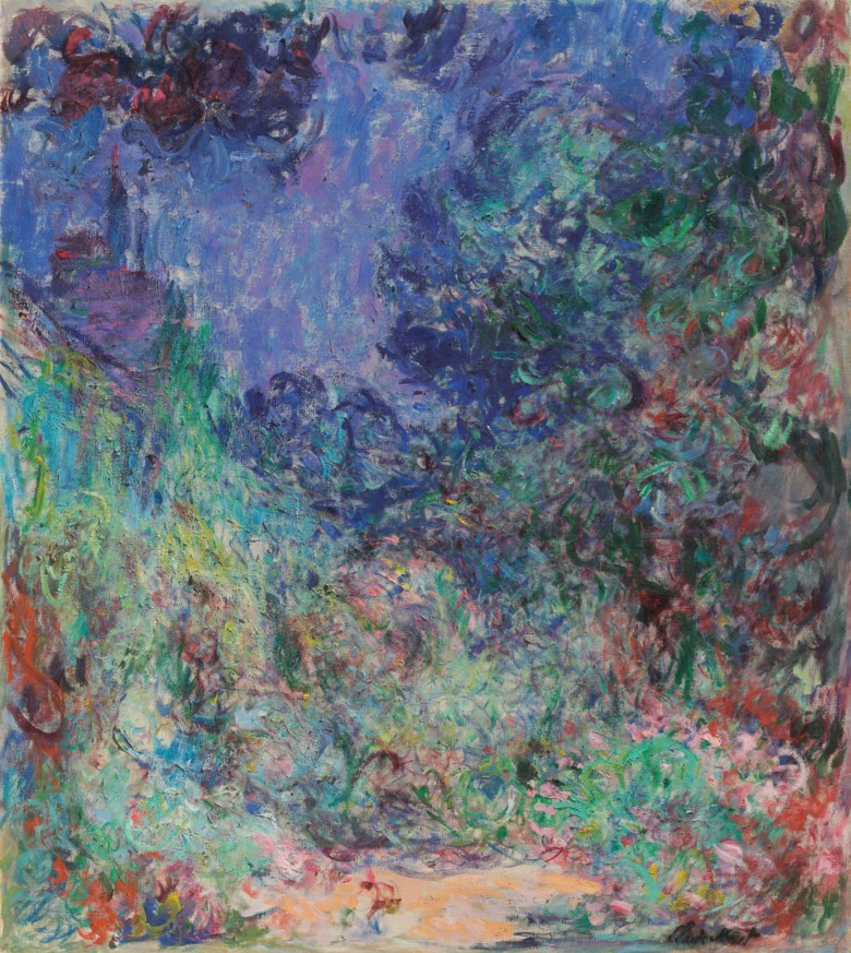 Claude Monet (1840-1926), La maison vue du jardin aux roses, painted in Giverny, circa 1922-1924. 39½ x 35⅛  in (100.4 x 89.3  cm). Estimate $4,000,000-6,000,000. Offered in Impressionist and Modern Art Evening Sale on 13 May 2019 at Christie's in New York