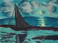 Mondnacht am Meer (grün)