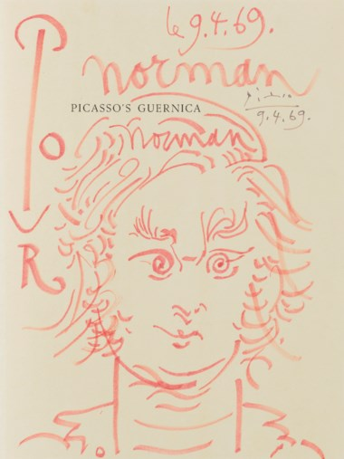 Pablo Picasso (1881-1973), Portrait de Norman Granz, drawn on 22 February 1969. Red felt-tip pen on paper. 11 x 8¼ in (27.9 x 21 cm). Estimate $80,000-120,000. Offered in Impressionist and Modern Art Works on Paper Sale on 14 May 2019 at Christie's in New York © 2019 Estate of Pablo Picasso  Artists Rights Society (ARS), New York