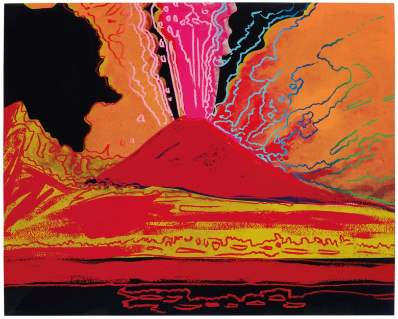 Andy Warhol (1928-1987), Vesuvius, 1985. Unique screenprint in colours. Sheet 31⅜ x 39¼ in (797 x 997 mm). Estimate $40,000-60,000. Offered in Prints & Multiples on 17-18 April 2019 at Christie's in New York